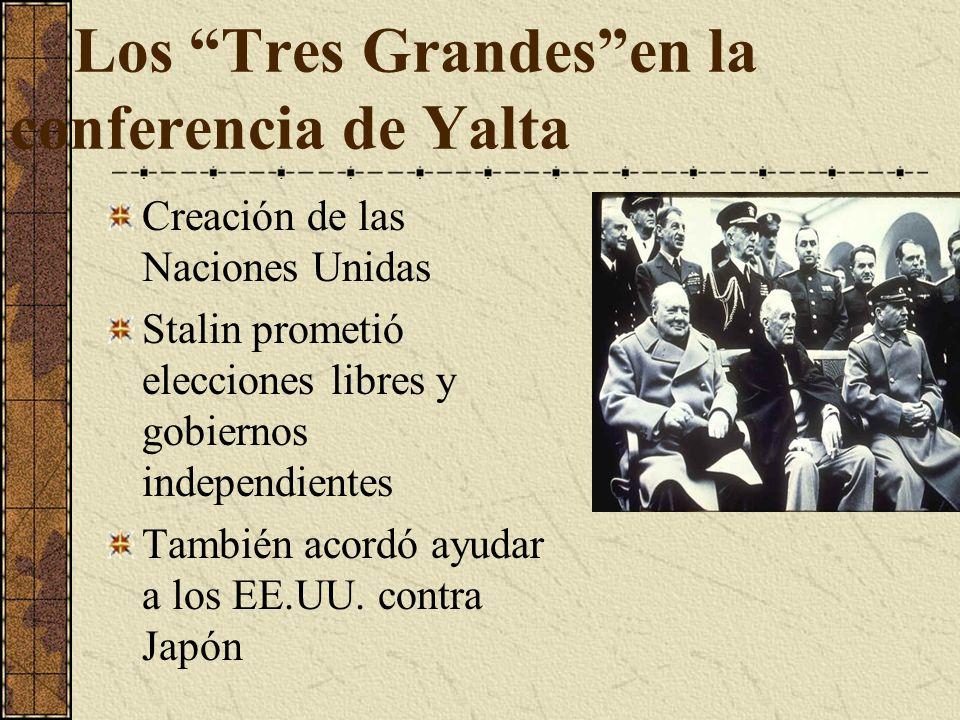 Los Tres Grandes en la conferencia de Yalta