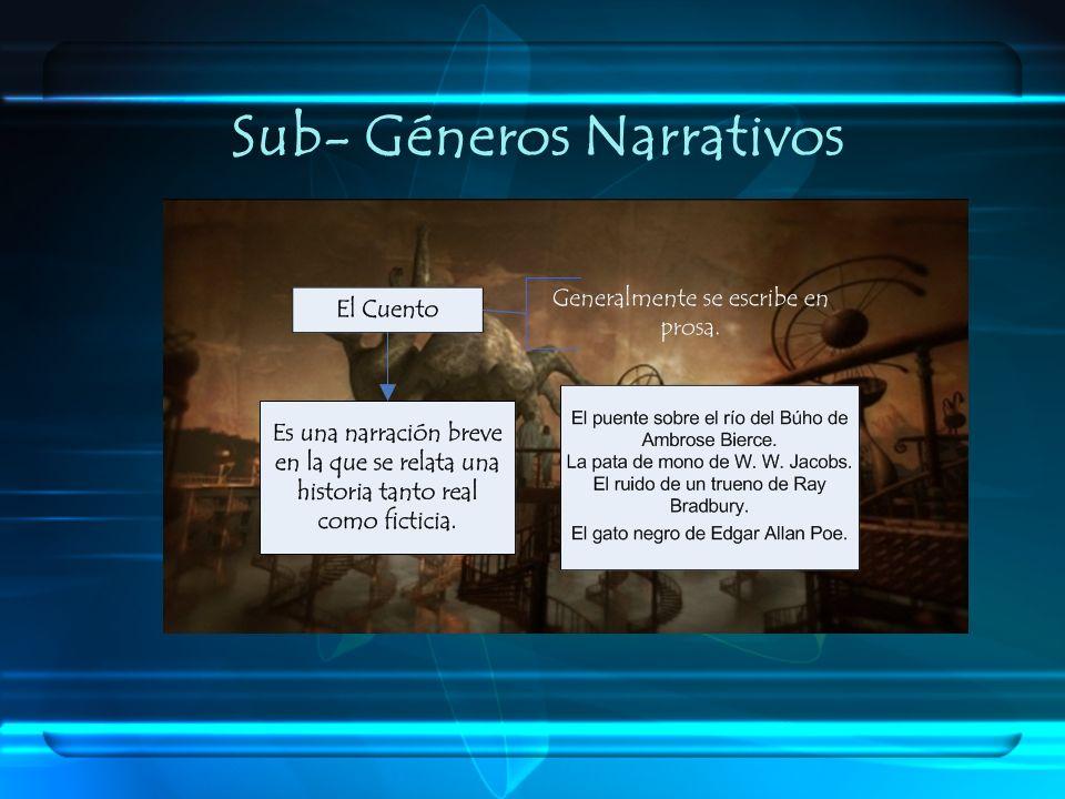 Sub- Géneros Narrativos