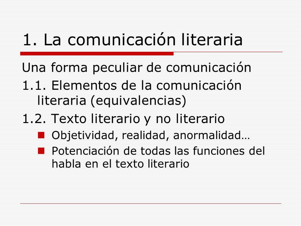 1. La comunicación literaria