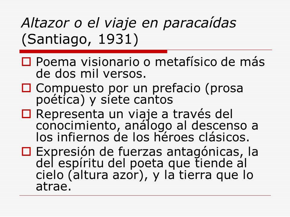 Altazor o el viaje en paracaídas (Santiago, 1931)
