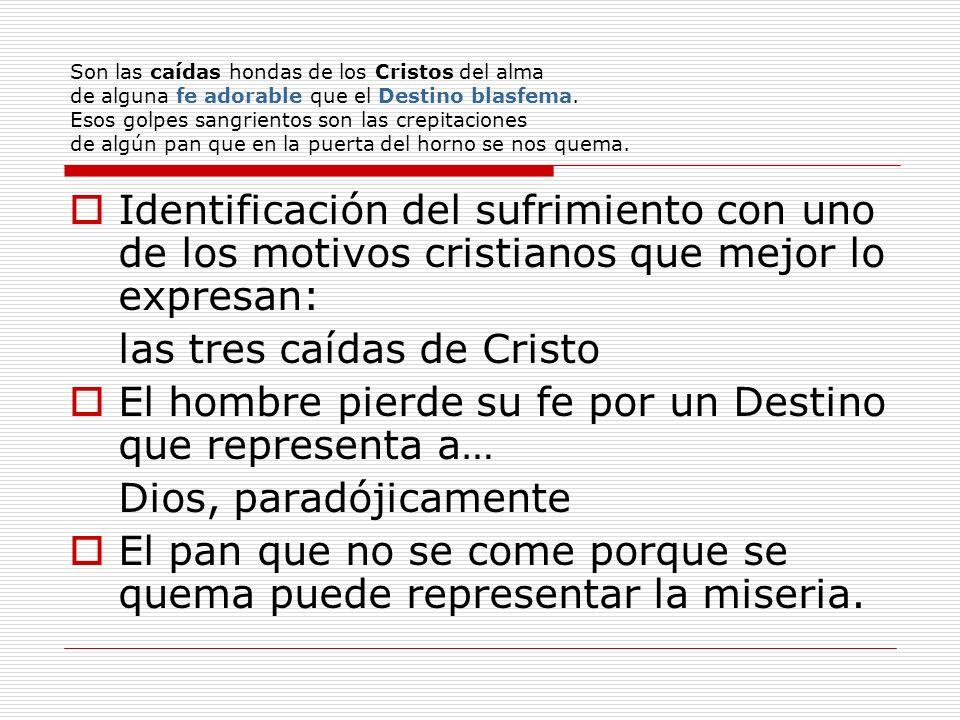 las tres caídas de Cristo