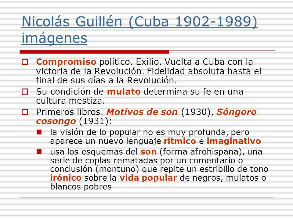 Nicolás Guillén (Cuba 1902-1989) imágenes