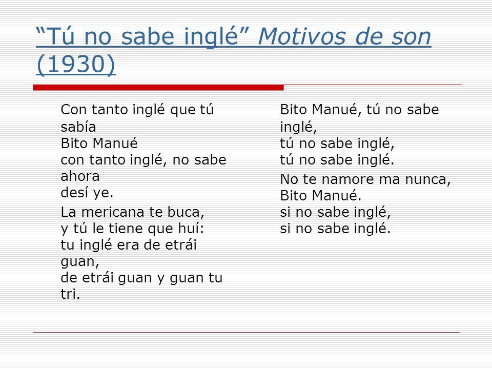 Tú no sabe inglé Motivos de son (1930)
