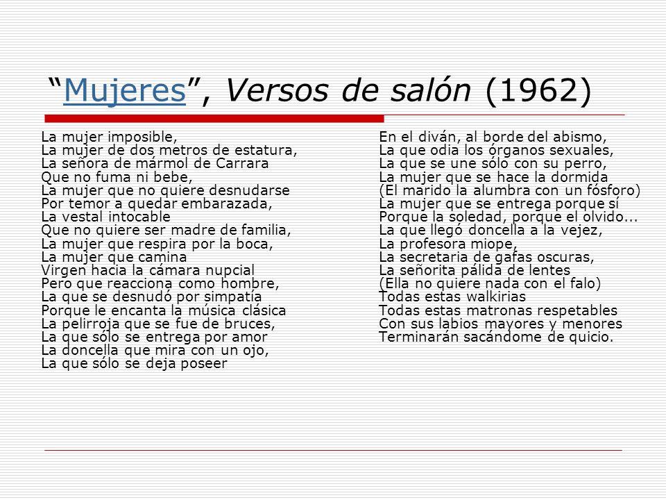 Mujeres , Versos de salón (1962)