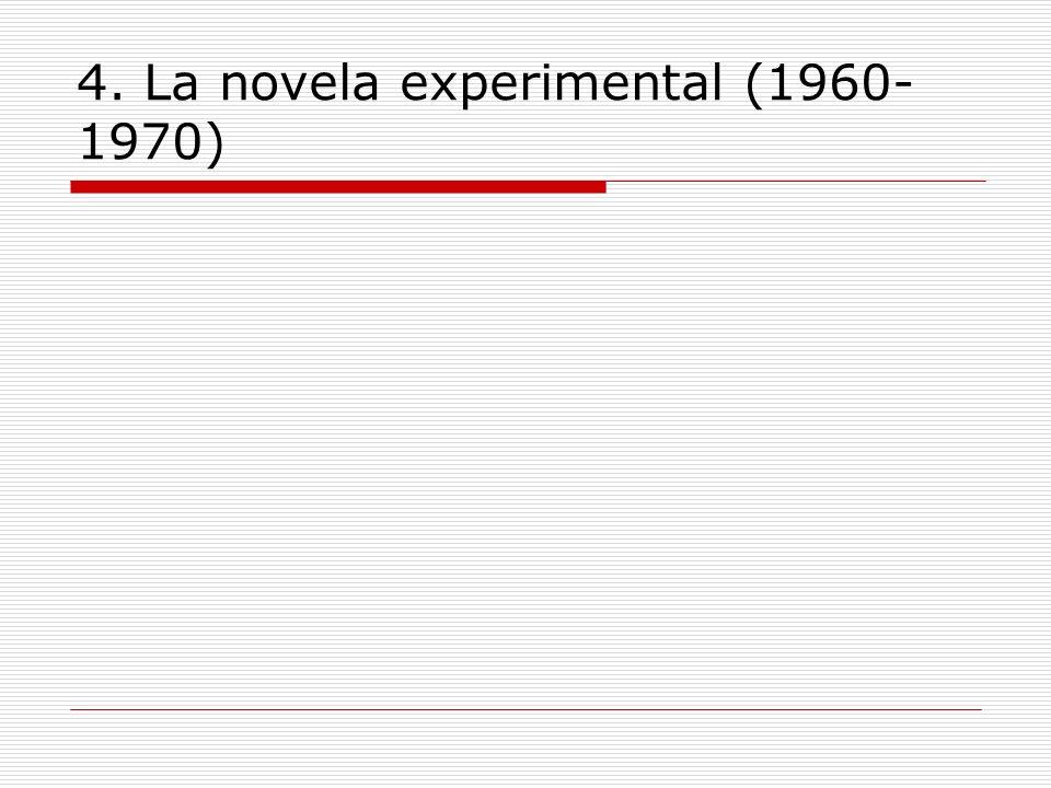 4. La novela experimental (1960-1970)