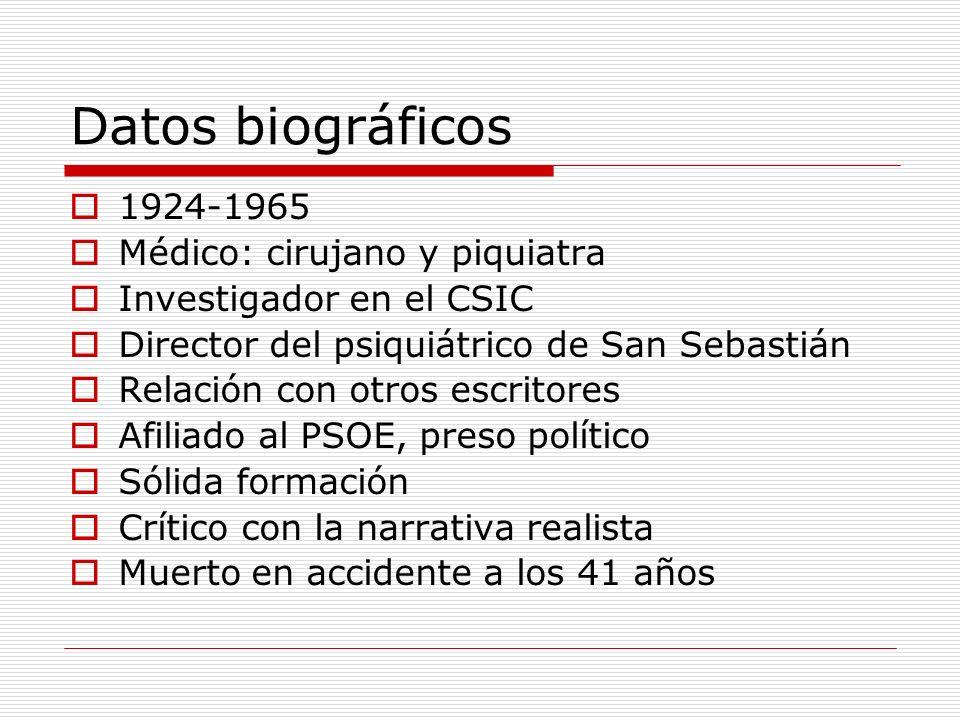 Datos biográficos 1924-1965 Médico: cirujano y piquiatra
