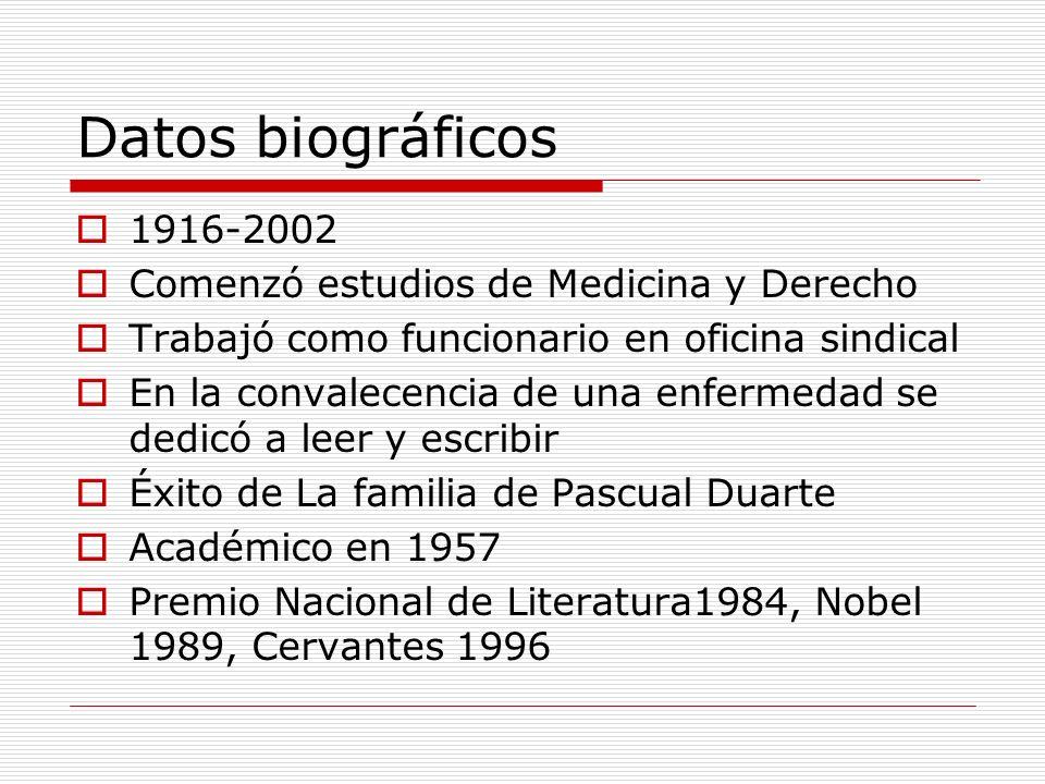 Datos biográficos 1916-2002 Comenzó estudios de Medicina y Derecho