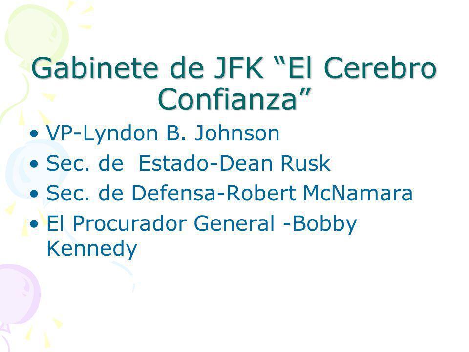 Gabinete de JFK El Cerebro Confianza