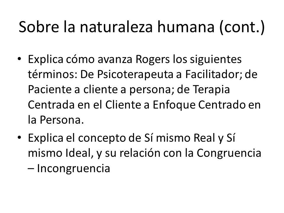 Sobre la naturaleza humana (cont.)