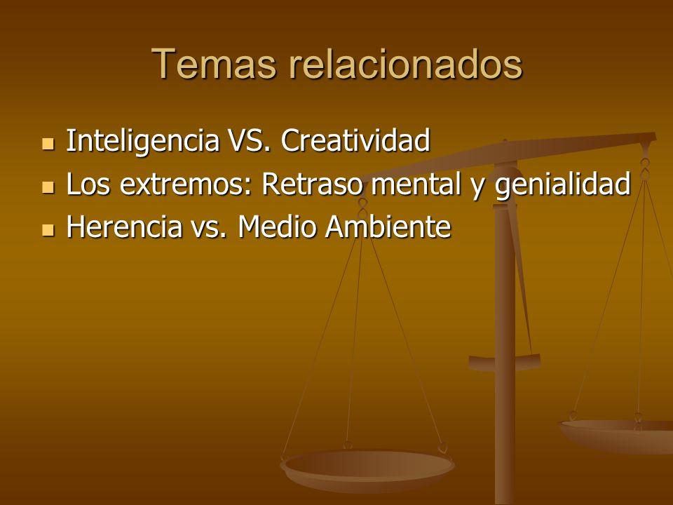 Temas relacionados Inteligencia VS. Creatividad