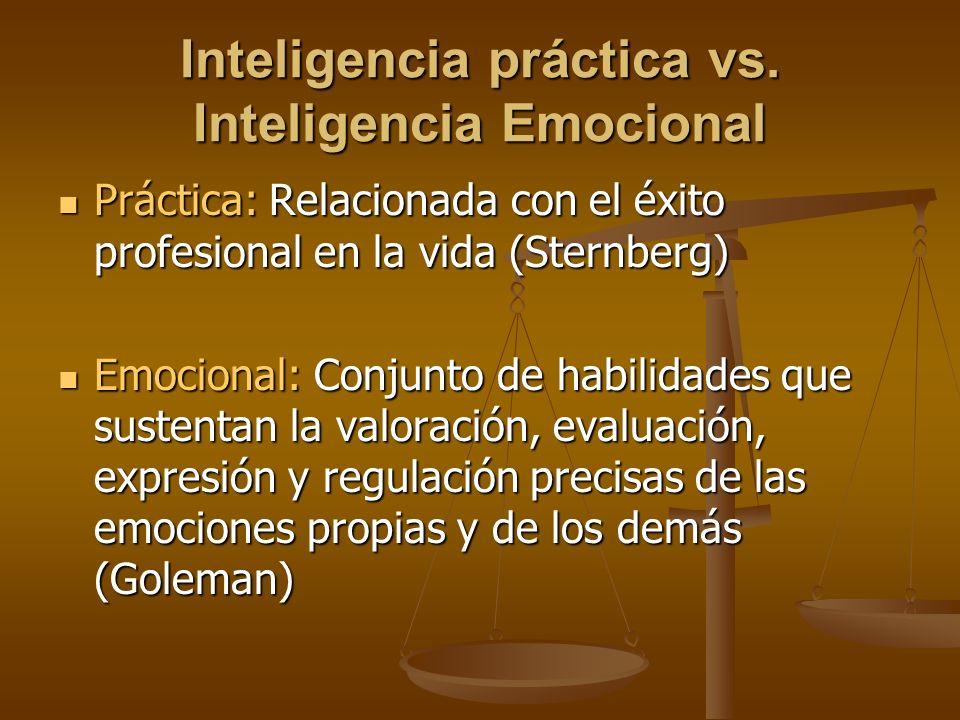 Inteligencia práctica vs. Inteligencia Emocional
