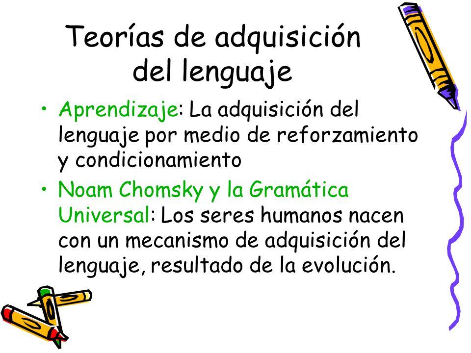 Teorías de adquisición del lenguaje