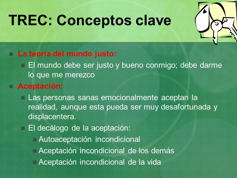 TREC: Conceptos clave La teoría del mundo justo: