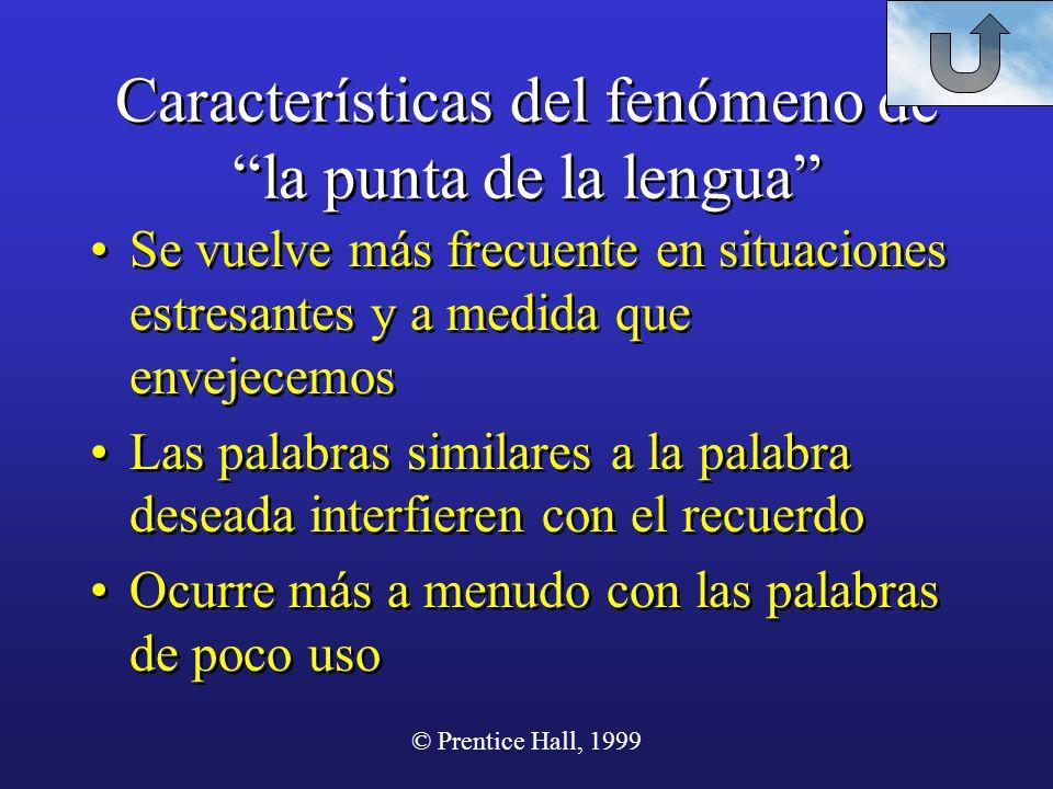 Características del fenómeno de la punta de la lengua