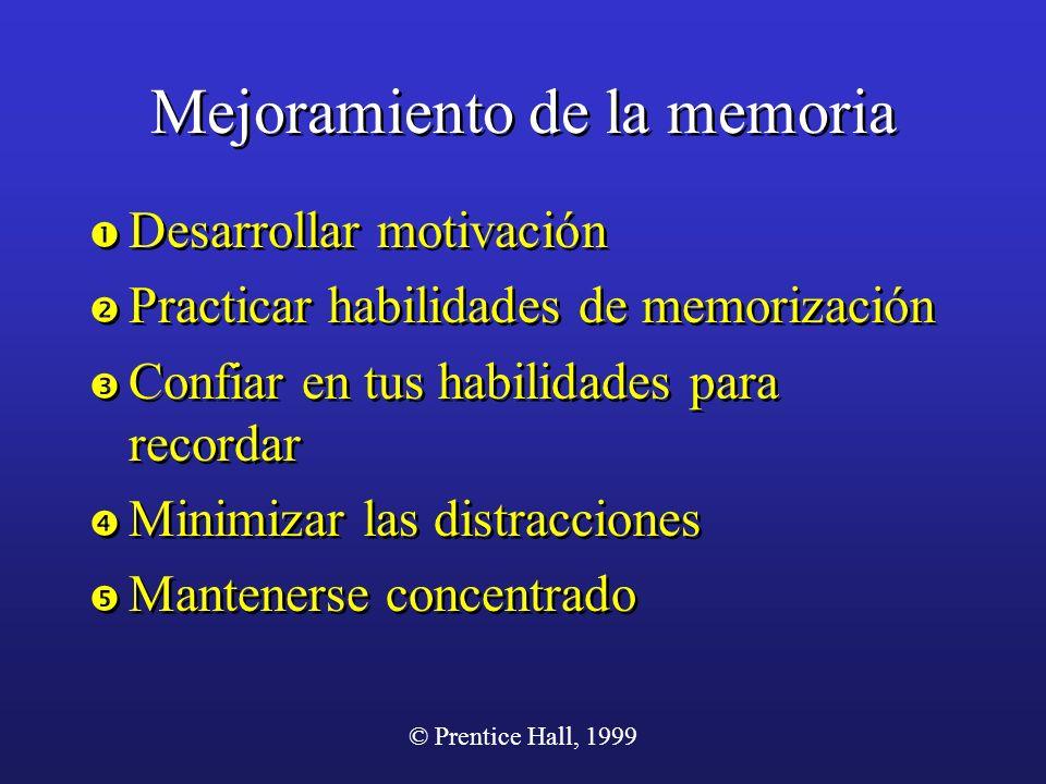 Mejoramiento de la memoria