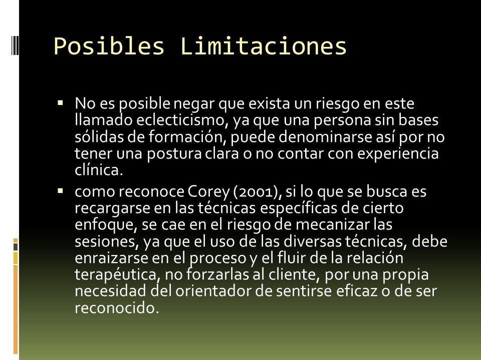 Posibles Limitaciones