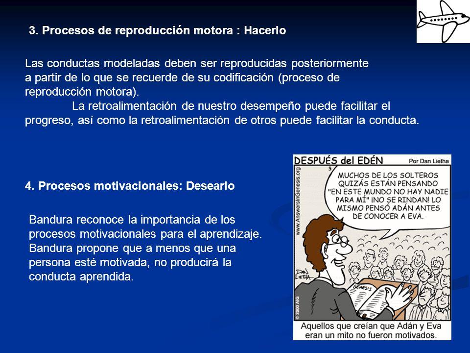 3. Procesos de reproducción motora : Hacerlo