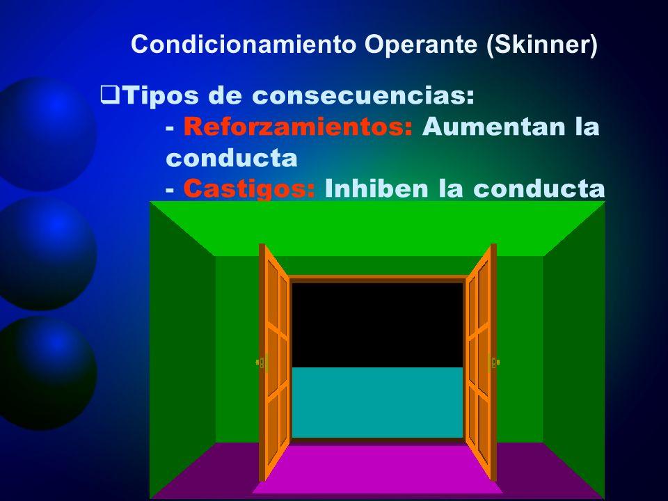 Condicionamiento Operante (Skinner)