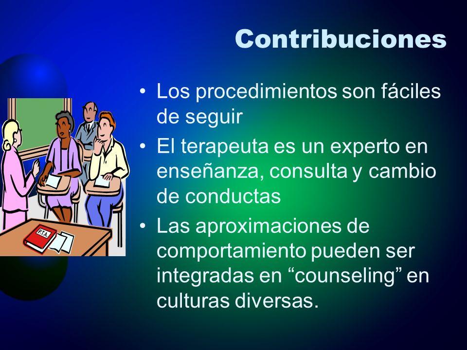 Contribuciones Los procedimientos son fáciles de seguir