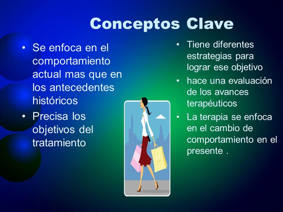 Conceptos Clave Tiene diferentes estrategias para lograr ese objetivo. hace una evaluación de los avances terapéuticos.