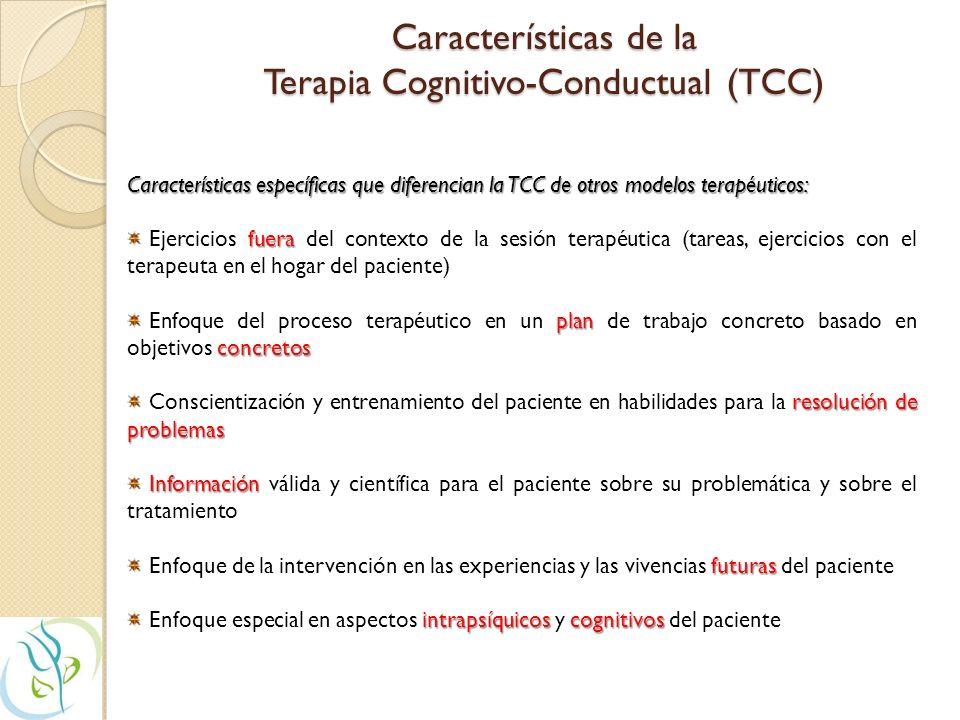 Características de la Terapia Cognitivo-Conductual (TCC)