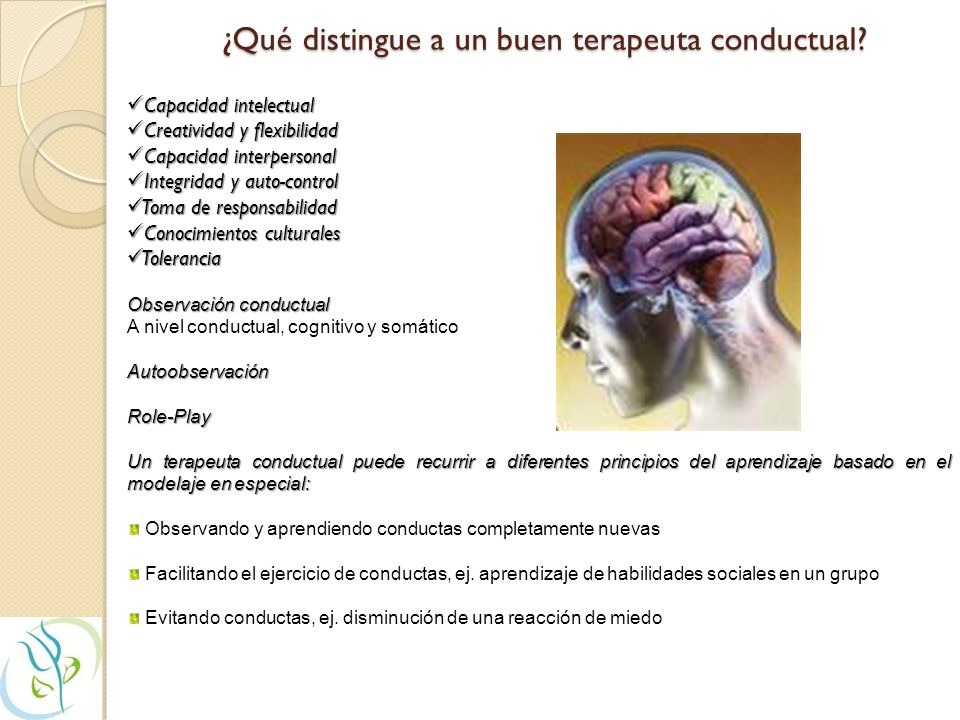 ¿Qué distingue a un buen terapeuta conductual