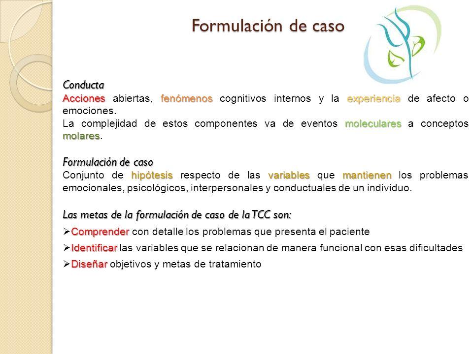 Formulación de caso Conducta Formulación de caso