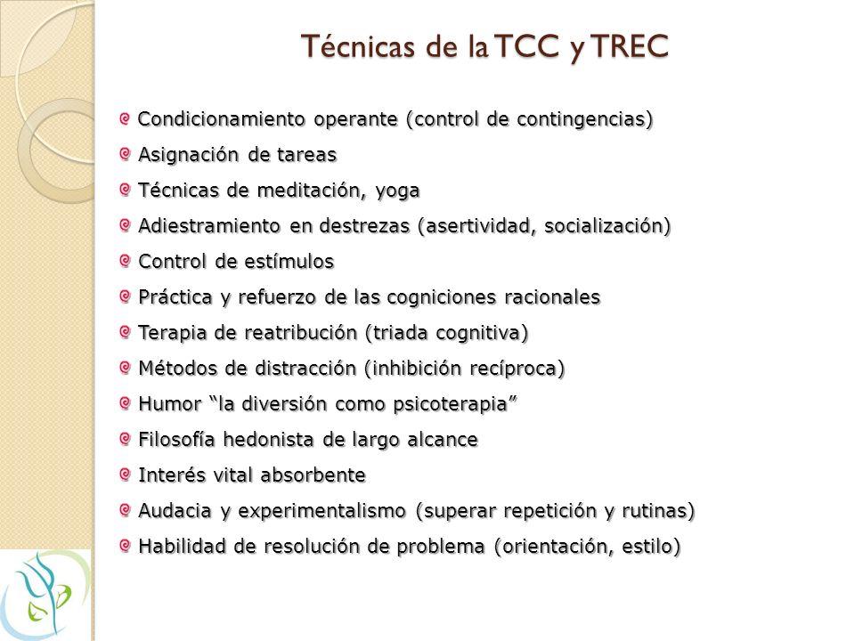 Técnicas de la TCC y TREC
