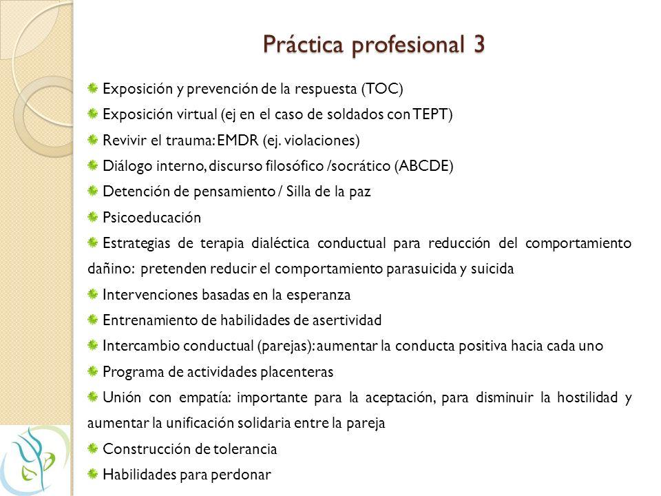 Práctica profesional 3 Exposición y prevención de la respuesta (TOC)