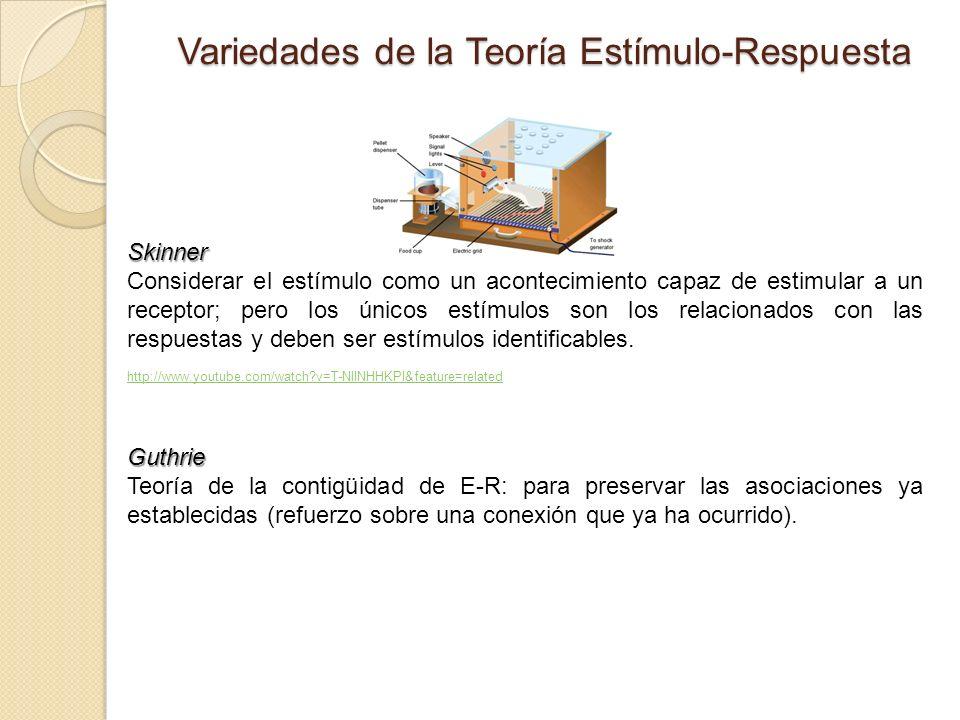Variedades de la Teoría Estímulo-Respuesta