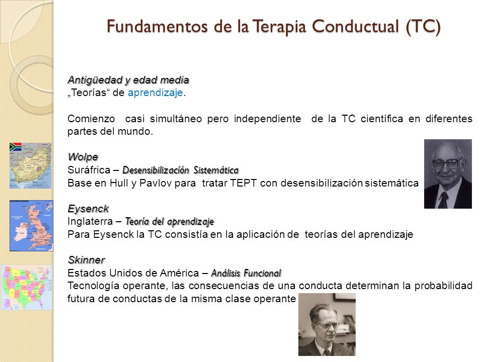 Fundamentos de la Terapia Conductual (TC)