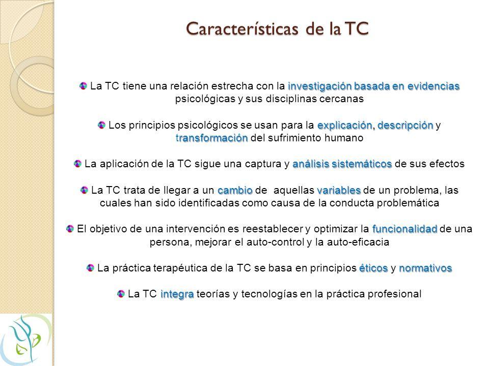 Características de la TC