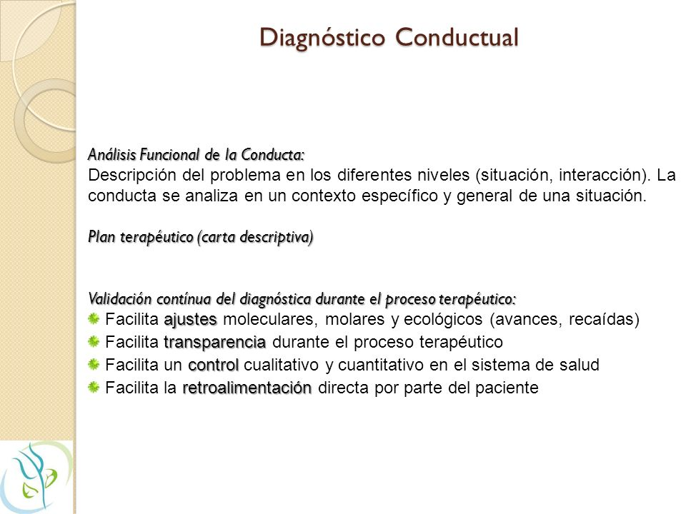 Diagnóstico Conductual
