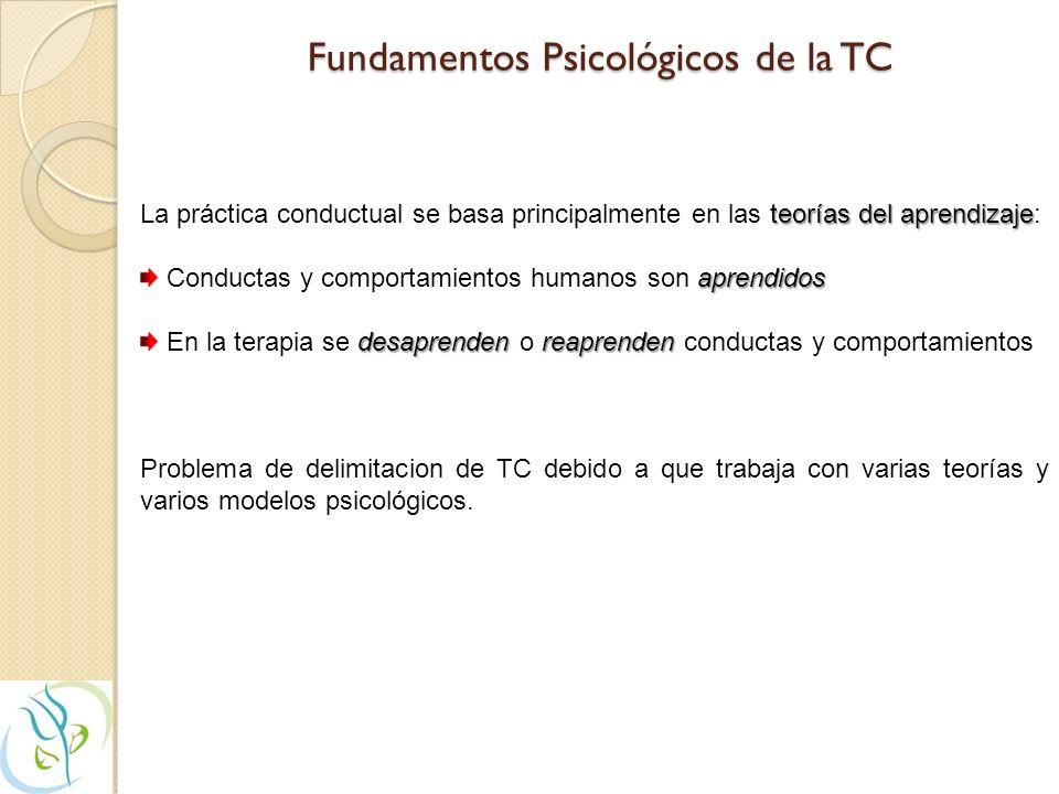 Fundamentos Psicológicos de la TC