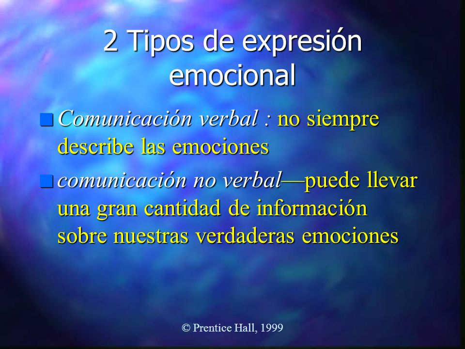 2 Tipos de expresión emocional