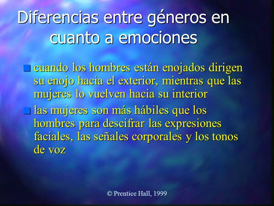 Diferencias entre géneros en cuanto a emociones