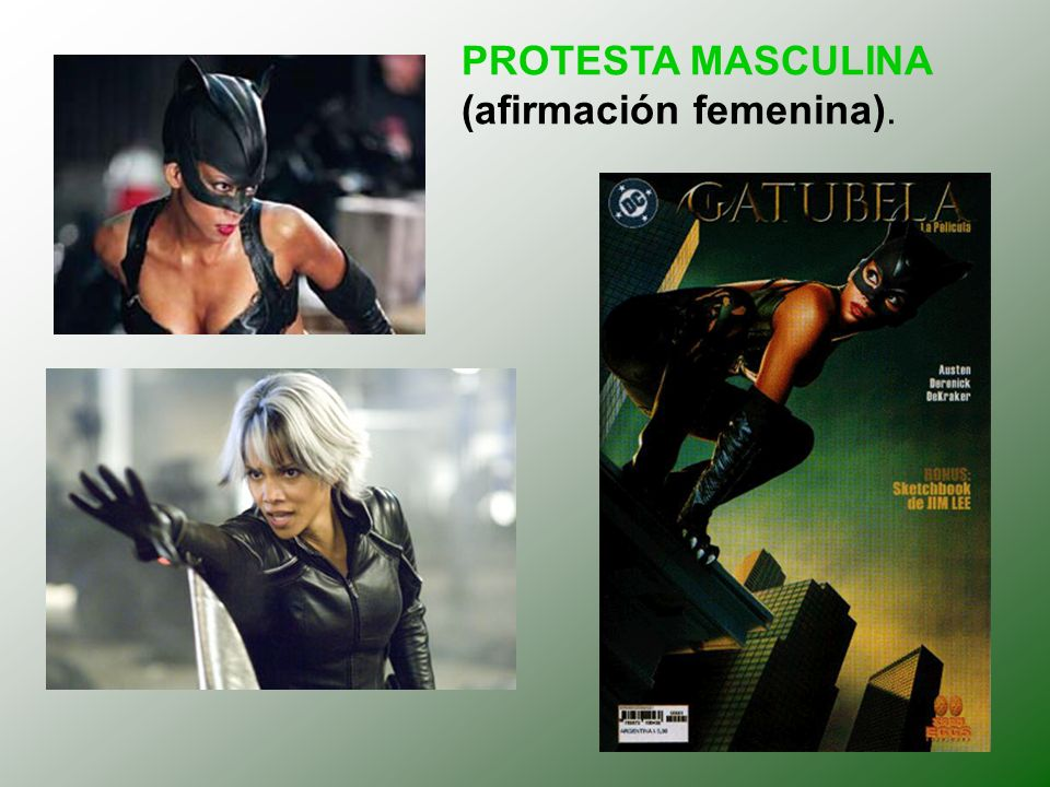 PROTESTA MASCULINA (afirmación femenina).
