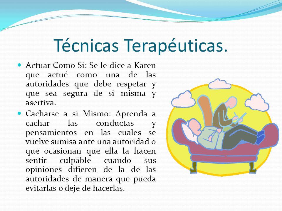 Técnicas Terapéuticas.