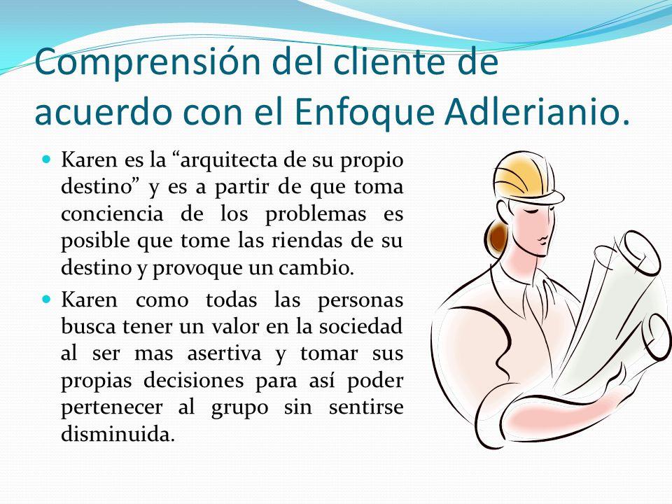 Comprensión del cliente de acuerdo con el Enfoque Adlerianio.