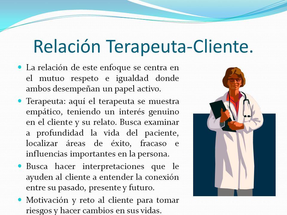 Relación Terapeuta-Cliente.
