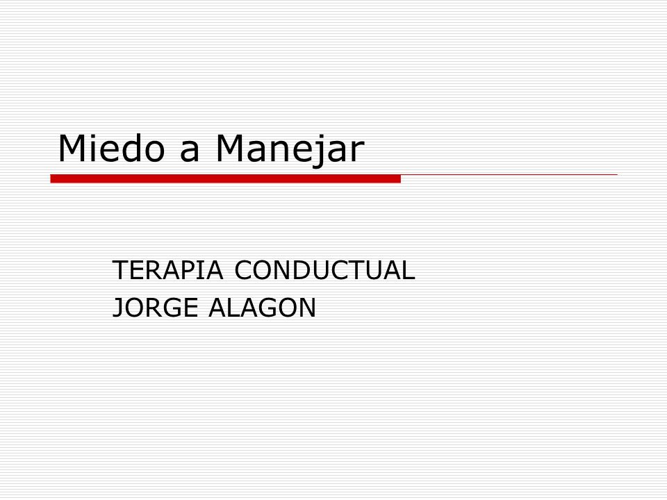 TERAPIA CONDUCTUAL JORGE ALAGON