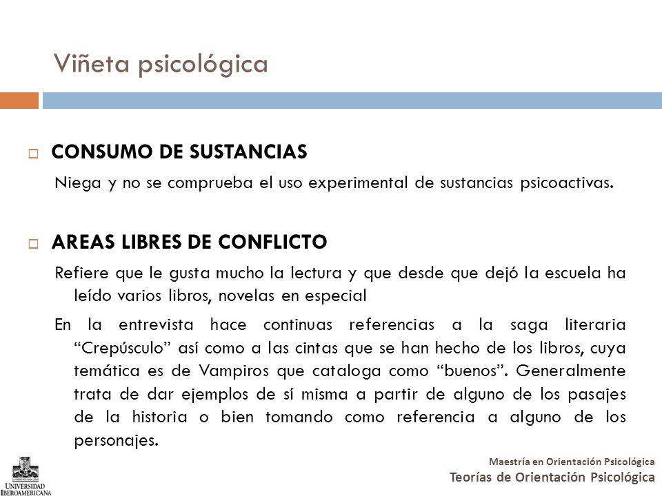 Viñeta psicológica CONSUMO DE SUSTANCIAS AREAS LIBRES DE CONFLICTO