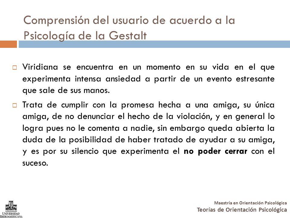 Comprensión del usuario de acuerdo a la Psicología de la Gestalt