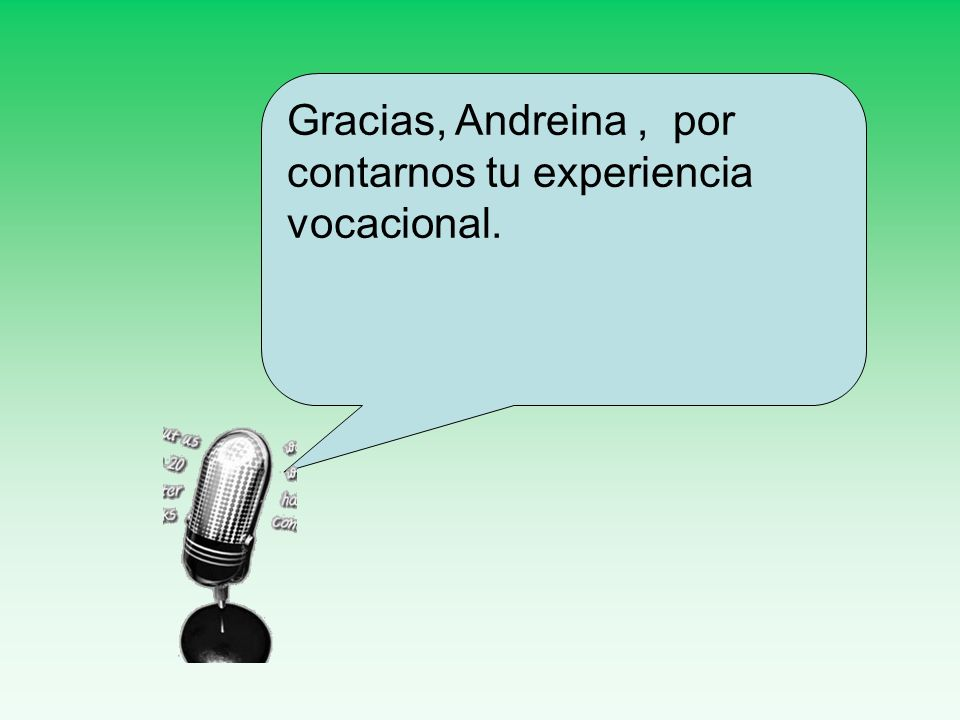 Gracias, Andreina , por contarnos tu experiencia vocacional.