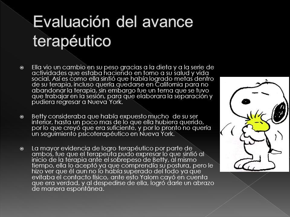 Evaluación del avance terapéutico