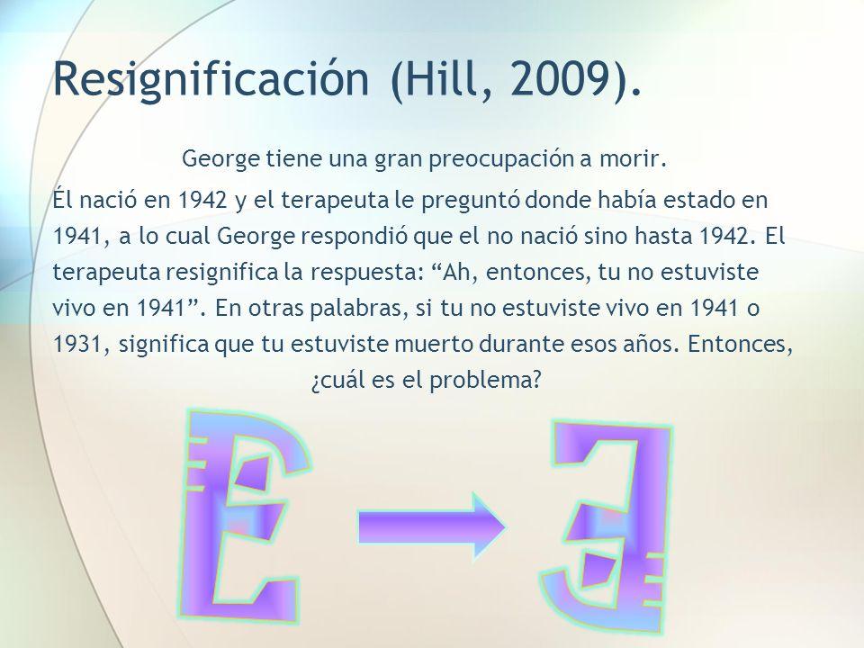 Resignificación (Hill, 2009).