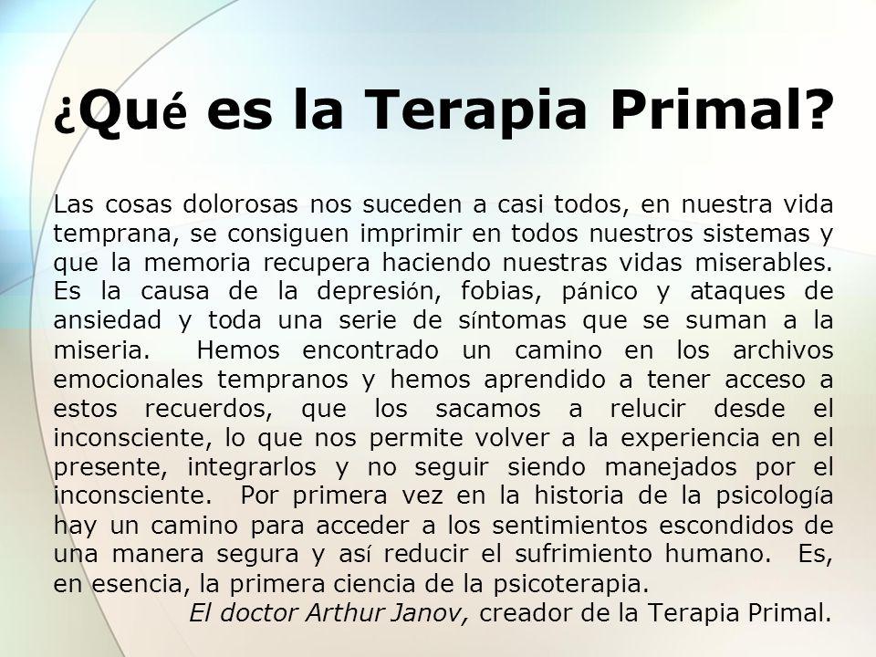 ¿Qué es la Terapia Primal