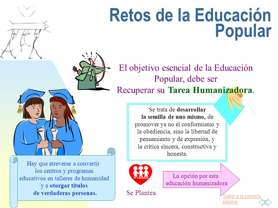 Retos de la Educación Popular