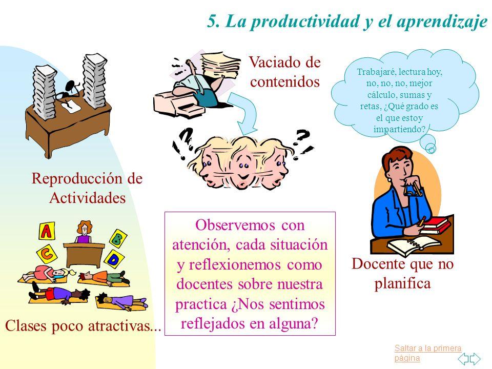 5. La productividad y el aprendizaje