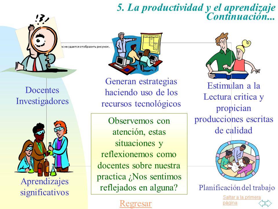 5. La productividad y el aprendizaje Continuación...
